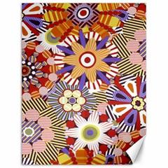 Flower Floral Sunflower Rainbow Frame Canvas 12  X 16
