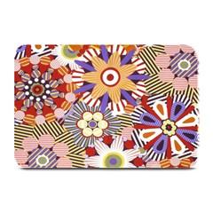 Flower Floral Sunflower Rainbow Frame Plate Mats