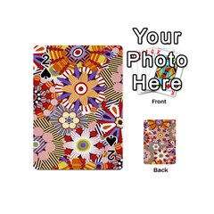 Flower Floral Sunflower Rainbow Frame Playing Cards 54 (Mini)