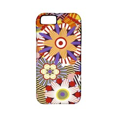 Flower Floral Sunflower Rainbow Frame Apple iPhone 5 Classic Hardshell Case (PC+Silicone)