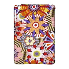 Flower Floral Sunflower Rainbow Frame Apple iPad Mini Hardshell Case (Compatible with Smart Cover)