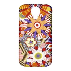Flower Floral Sunflower Rainbow Frame Samsung Galaxy S4 Classic Hardshell Case (PC+Silicone)
