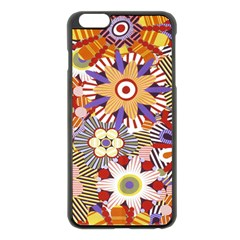 Flower Floral Sunflower Rainbow Frame Apple iPhone 6 Plus/6S Plus Black Enamel Case