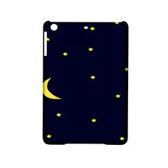 Moon Dark Night Blue Sky Full Stars Light Yellow iPad Mini 2 Hardshell Cases
