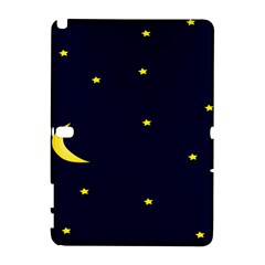 Moon Dark Night Blue Sky Full Stars Light Yellow Galaxy Note 1