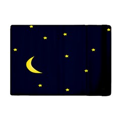 Moon Dark Night Blue Sky Full Stars Light Yellow iPad Mini 2 Flip Cases
