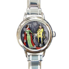 Beauty and the Beast Round Italian Charm Watch