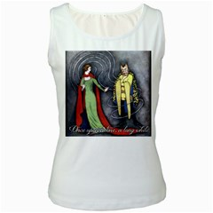 Beauty and the Beast Women s White Tank Top