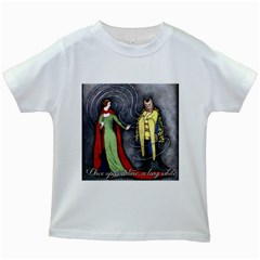 Beauty and the Beast Kids White T-Shirts