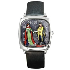 Beauty and the Beast Square Metal Watch