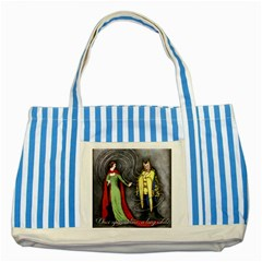 Beauty and the Beast Striped Blue Tote Bag