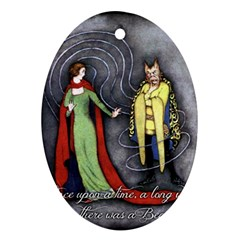 Beauty and the Beast Oval Ornament (Two Sides)