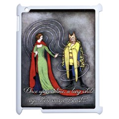 Beauty and the Beast Apple iPad 2 Case (White)