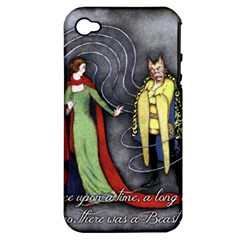 Beauty and the Beast Apple iPhone 4/4S Hardshell Case (PC+Silicone)