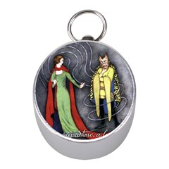 Beauty and the Beast Mini Silver Compasses