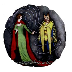 Beauty And The Beast Large 18  Premium Flano Round Cushions