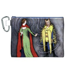 Beauty and the Beast Canvas Cosmetic Bag (XL)