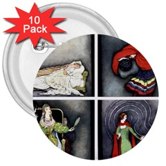 Fairy Tales 3  Buttons (10 pack)