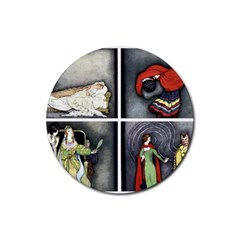 Fairy Tales Rubber Round Coaster (4 pack)