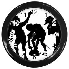 Seven Dwarfs Wall Clocks (Black)