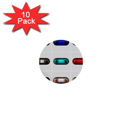 9 Power Button 1  Mini Buttons (10 pack)