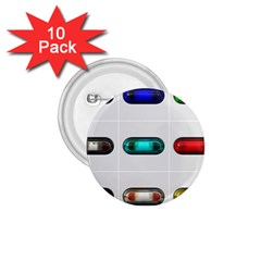 9 Power Button 1.75  Buttons (10 pack)
