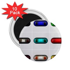 9 Power Button 2 25  Magnets (10 Pack)