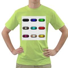 9 Power Button Green T-Shirt