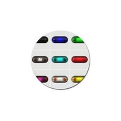 9 Power Button Golf Ball Marker (10 Pack)