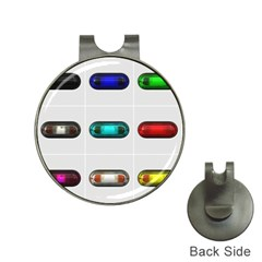 9 Power Button Hat Clips with Golf Markers