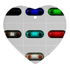 9 Power Button Heart Ornament (two Sides)