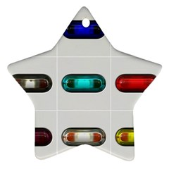 9 Power Button Star Ornament (two Sides)