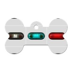 9 Power Button Dog Tag Bone (One Side)