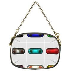 9 Power Button Chain Purses (Two Sides)