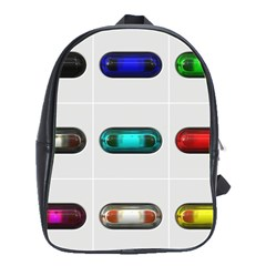 9 Power Button School Bags(Large)