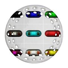 9 Power Button Ornament (round Filigree)