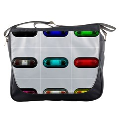 9 Power Button Messenger Bags