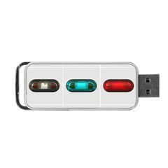 9 Power Button Portable USB Flash (Two Sides)