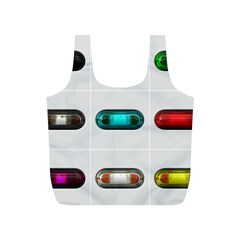 9 Power Button Full Print Recycle Bags (S)