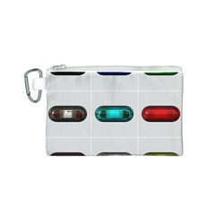 9 Power Button Canvas Cosmetic Bag (S)