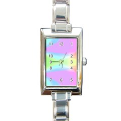 Abstract Background Colorful Rectangle Italian Charm Watch