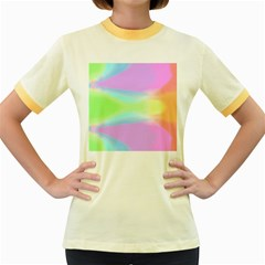 Abstract Background Colorful Women s Fitted Ringer T Shirts