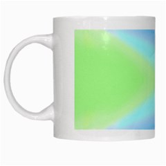 Abstract Background Colorful White Mugs