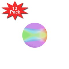 Abstract Background Colorful 1  Mini Buttons (10 Pack)