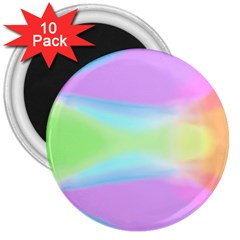 Abstract Background Colorful 3  Magnets (10 pack)