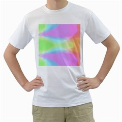 Abstract Background Colorful Men s T-Shirt (White) (Two Sided)