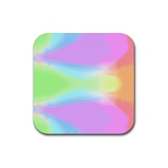 Abstract Background Colorful Rubber Square Coaster (4 pack)