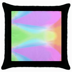 Abstract Background Colorful Throw Pillow Case (Black)