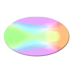 Abstract Background Colorful Oval Magnet