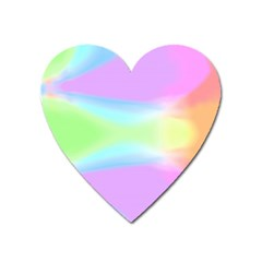 Abstract Background Colorful Heart Magnet